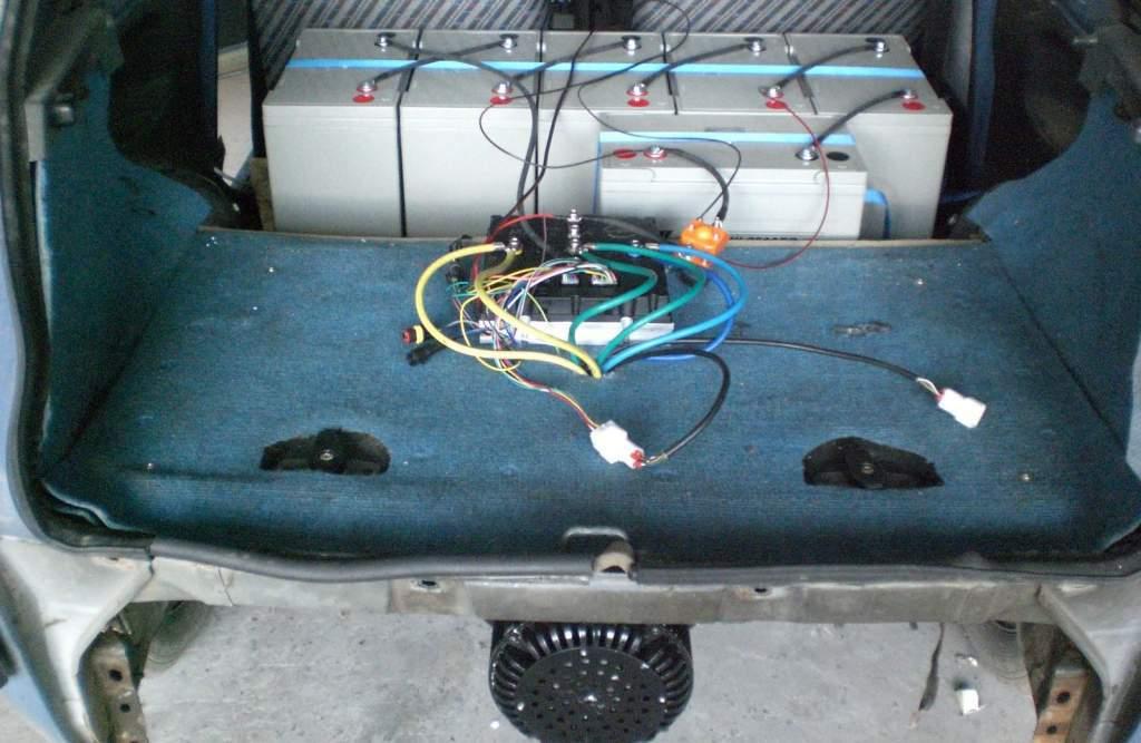 elektryczny fiat 126 bis akumulatory silnik