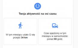 Google podsumowuje Twoje spacery i przejazdy
