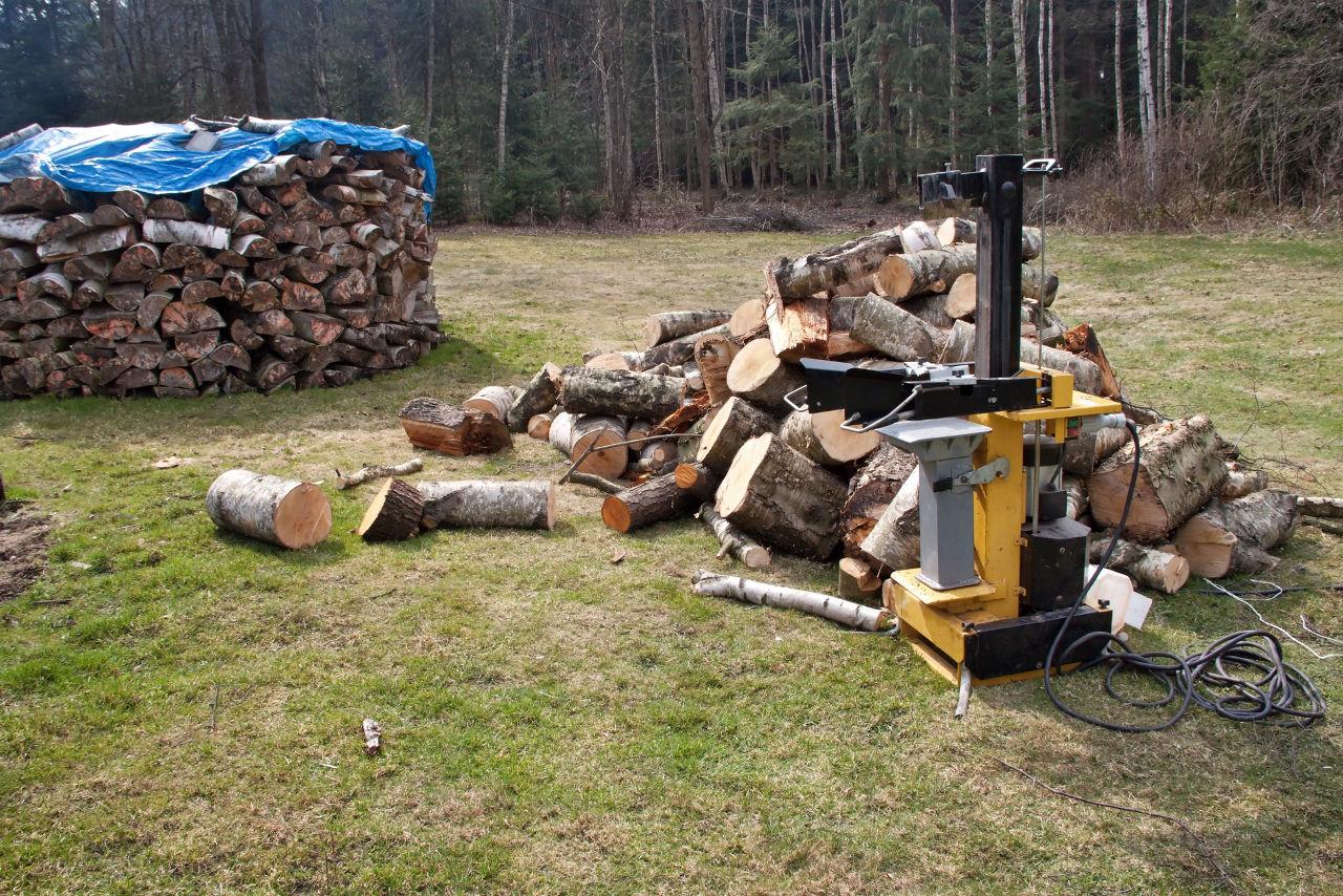Łuparka do drewna.
