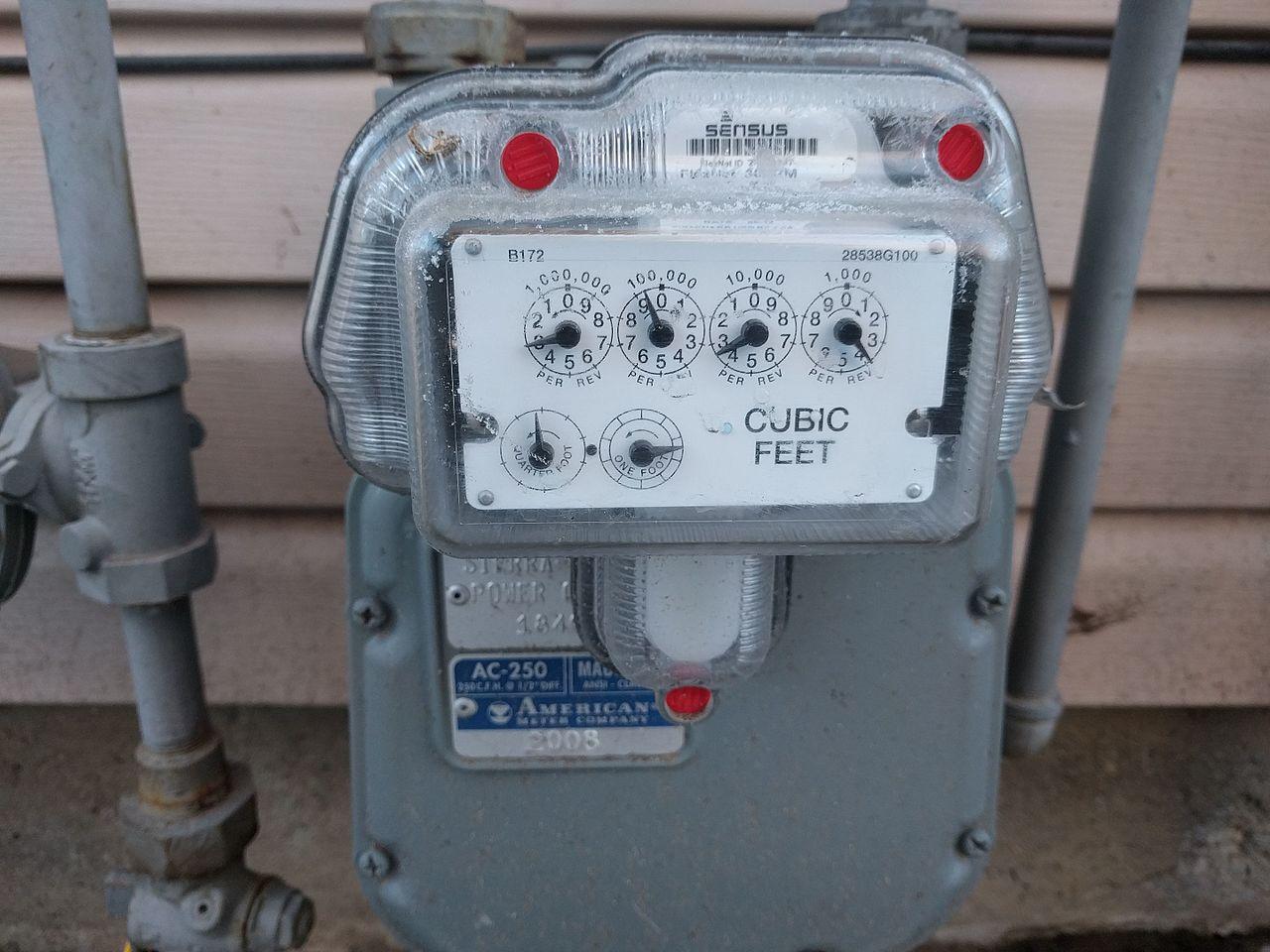 Licznik gazu m3 na kWh